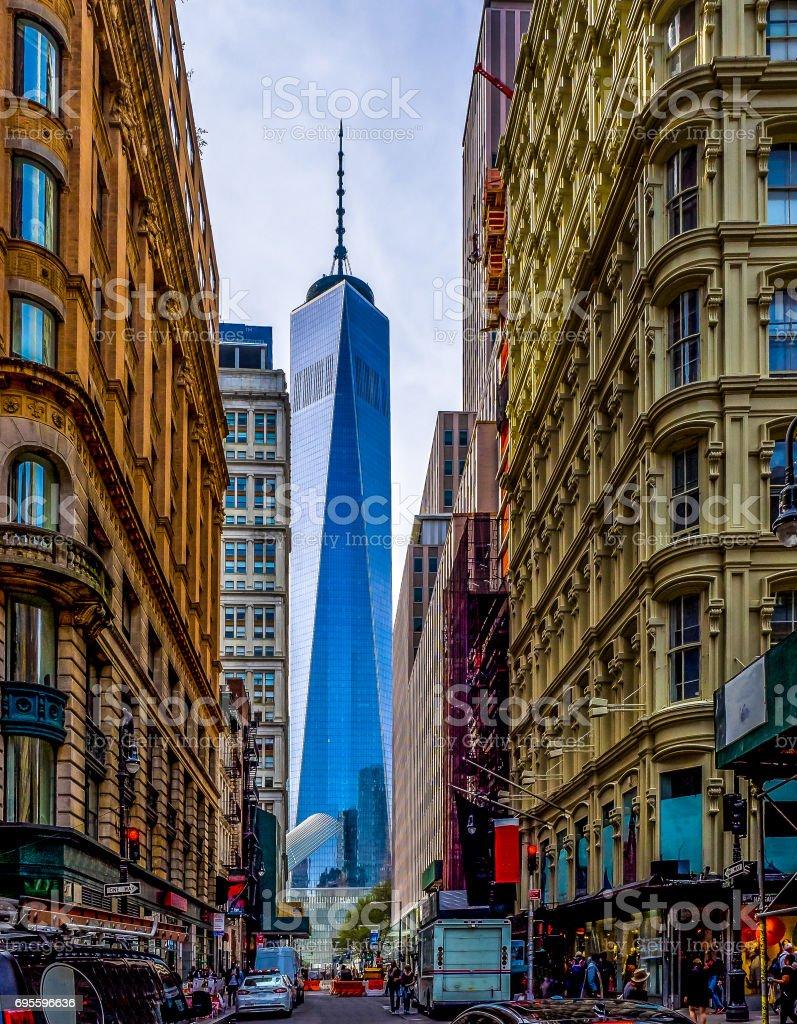 Framing Lower Manhattan stock photo