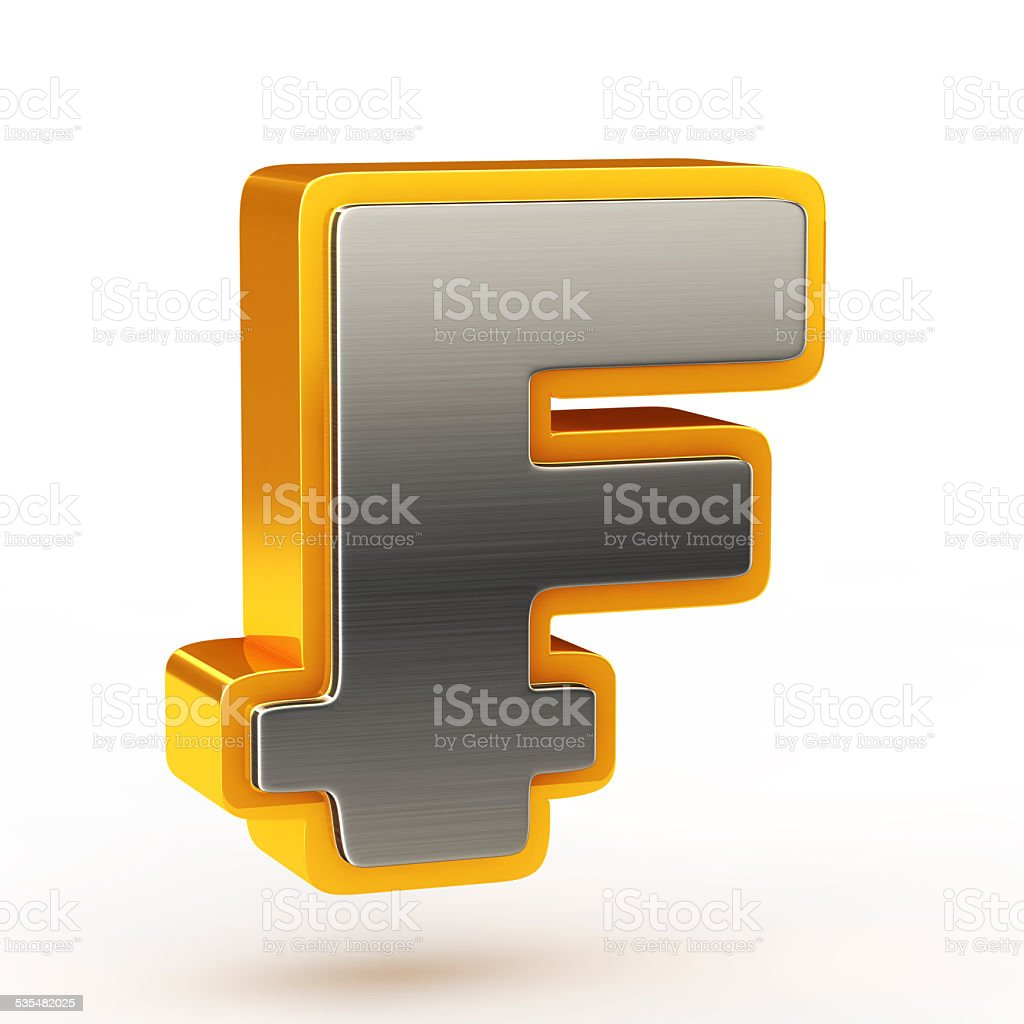 Franc currency symbol stock photo