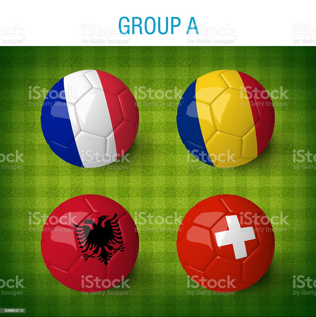 France 2016, group A. stock photo