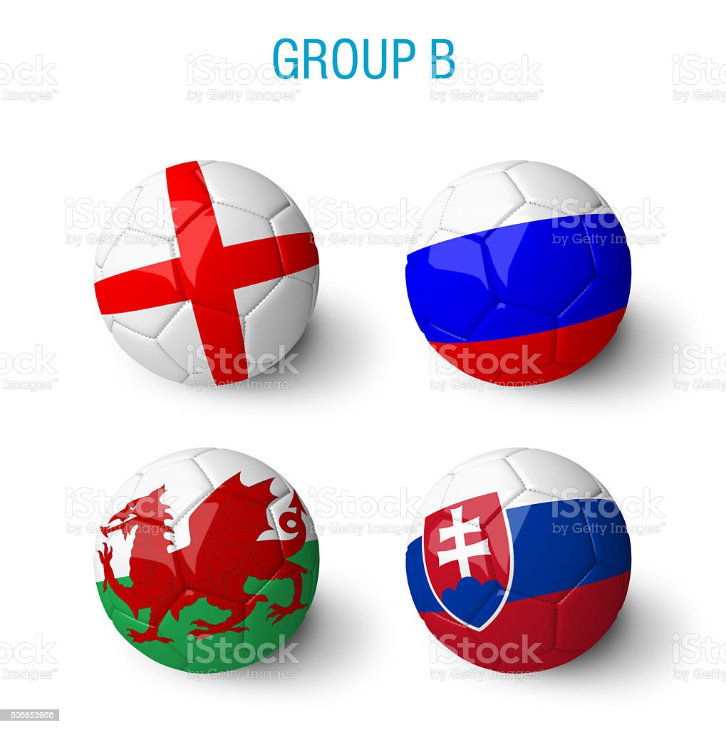 France 2016, group B. stock photo
