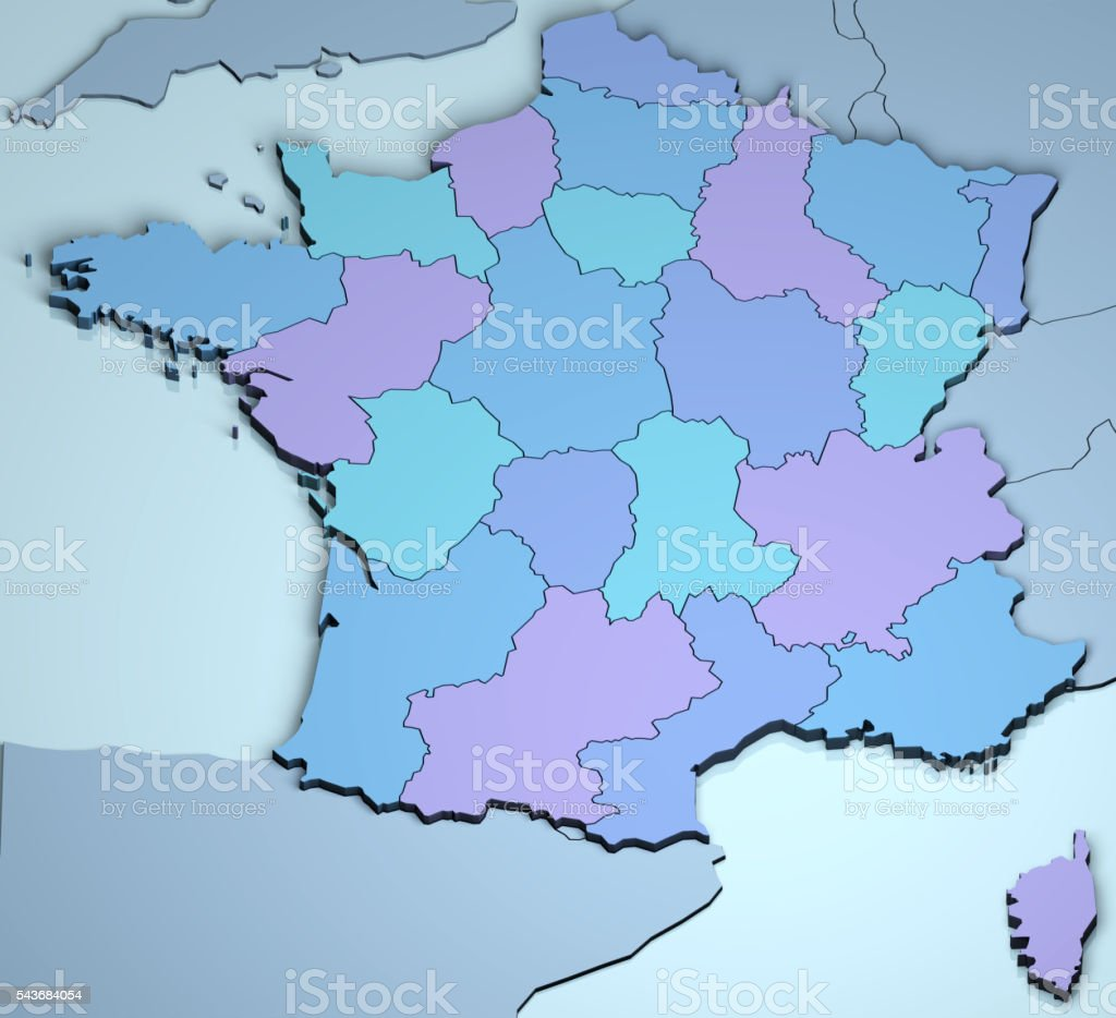 France 3D stock photo