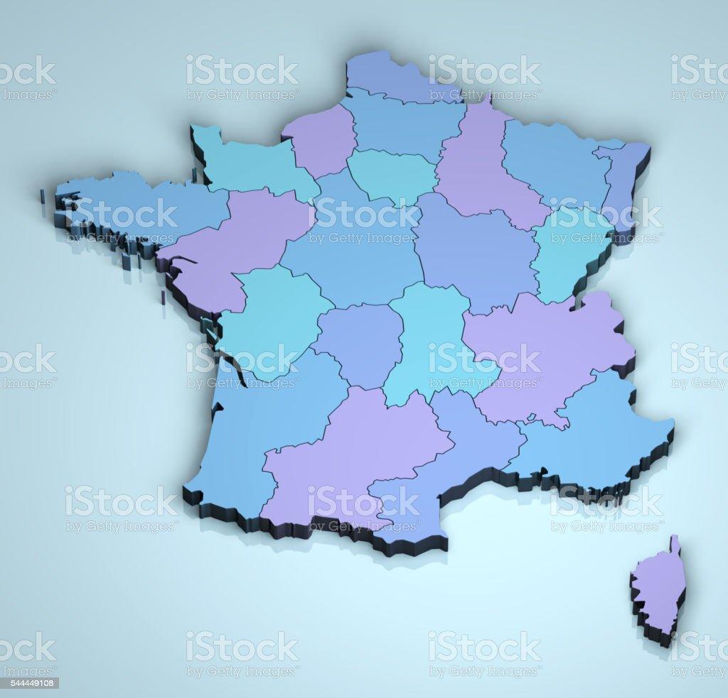 France 3D stock photo