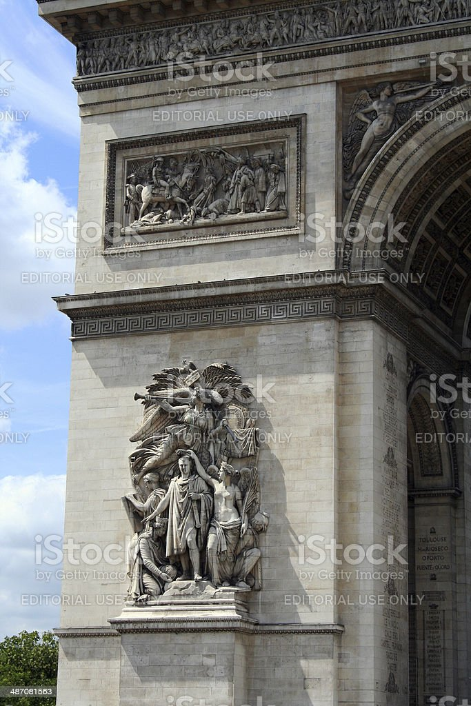 France: Arc de Triomphe in Paris stock photo