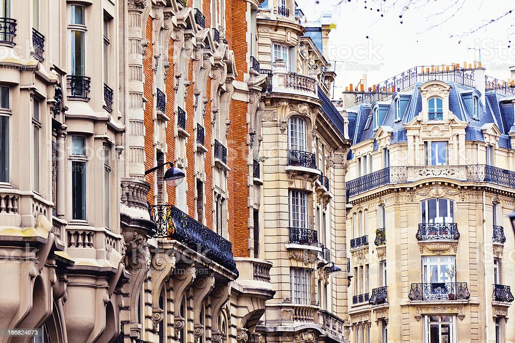 France Architecture, Houses of Paris royalty-free stock photo