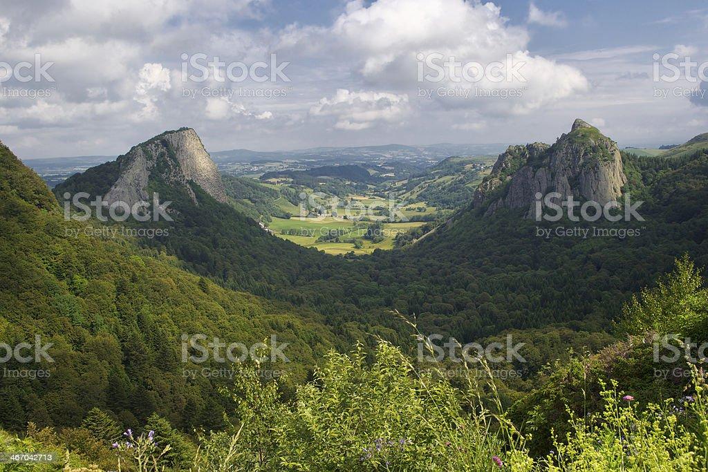 France auvergne rocks stock photo