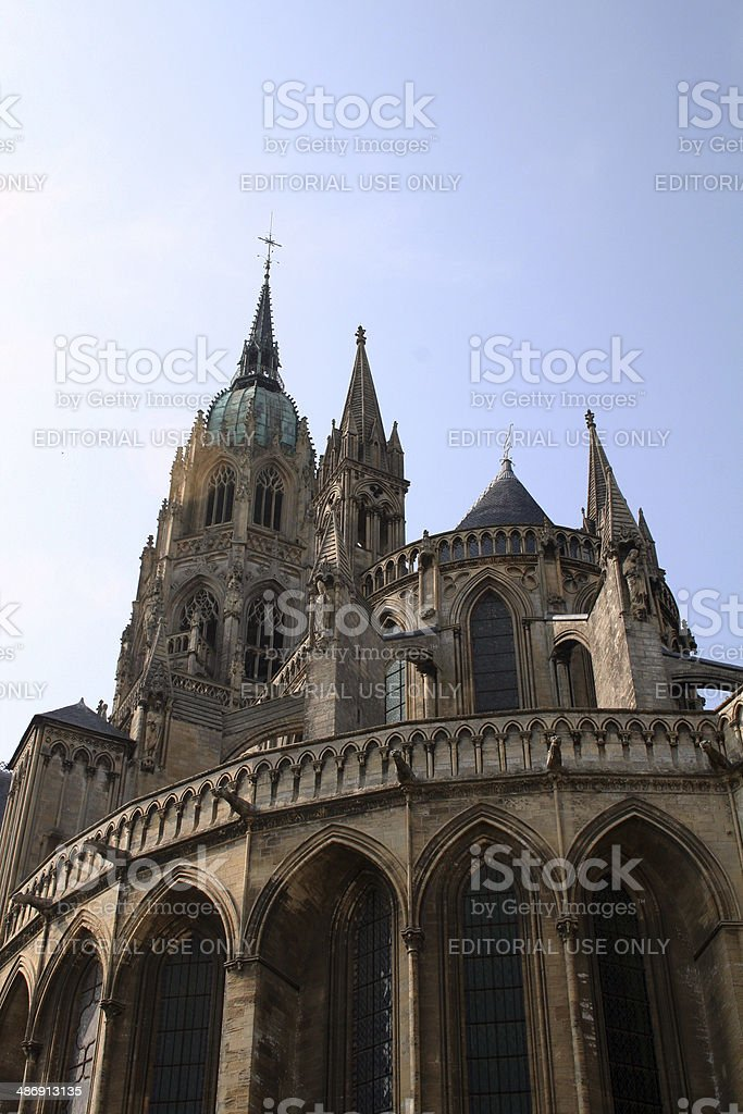 France: Bayeux Cathedral in Normandy stock photo