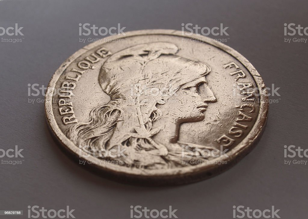 France coin royalty-free stock photo