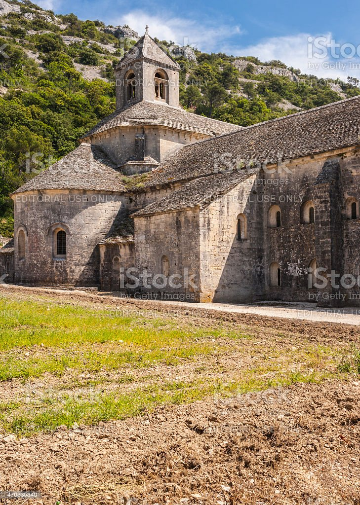 France. Department of Vaucluse. S?nanque Abbey (Notre-Dame de S?nanque) stock photo