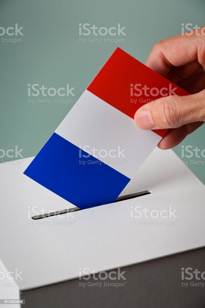 France Election and Future in Crisis stock photo