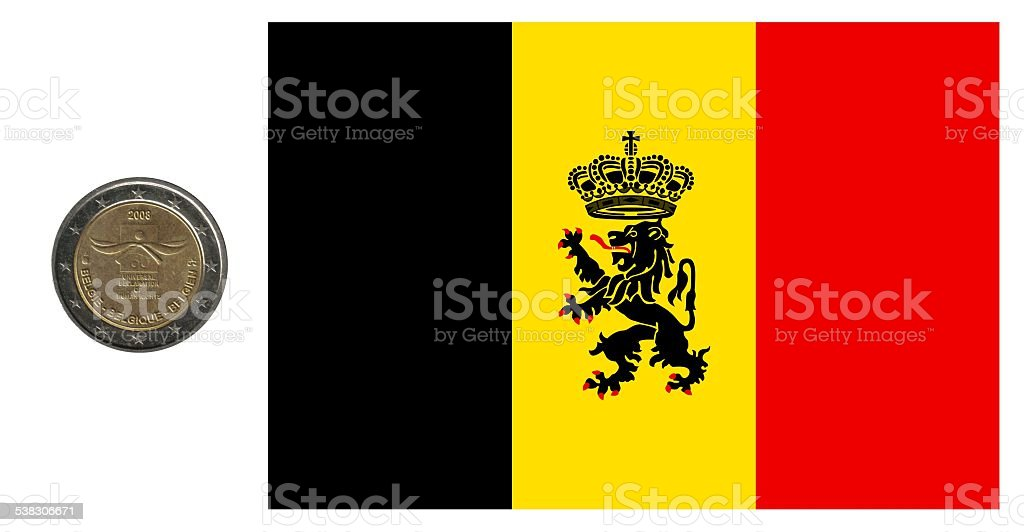 France, flag and coin stock photo