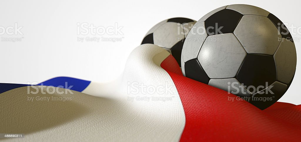 France Flag And Soccer Ball stock photo