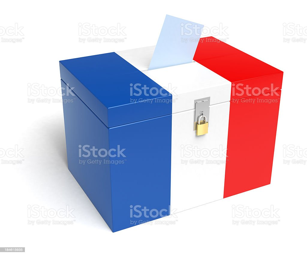 France Flag Ballot Box royalty-free stock photo