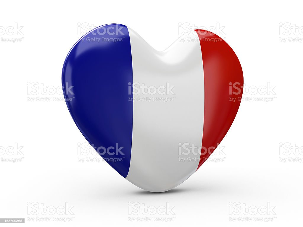 France Flag Heart royalty-free stock photo