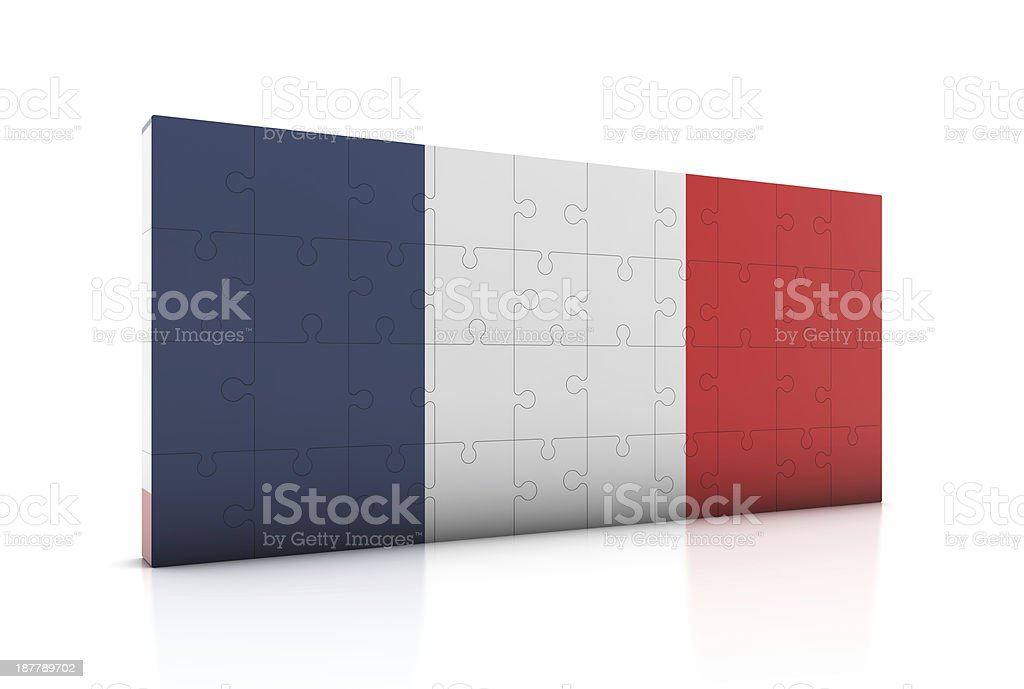 France Flag on Puzzle royalty-free stock photo