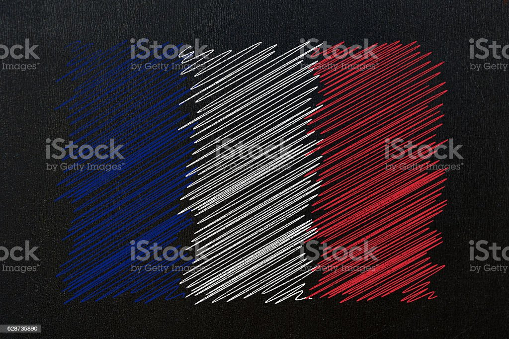 france flag sketch drawing stock photo