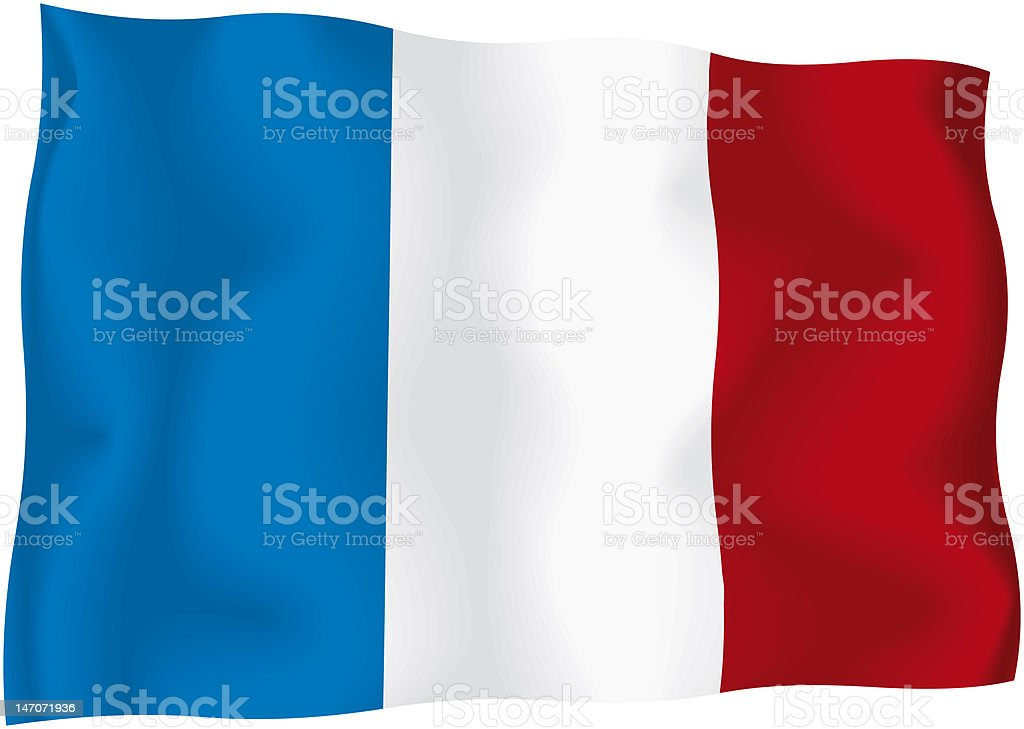 France - French flag royalty-free stock photo