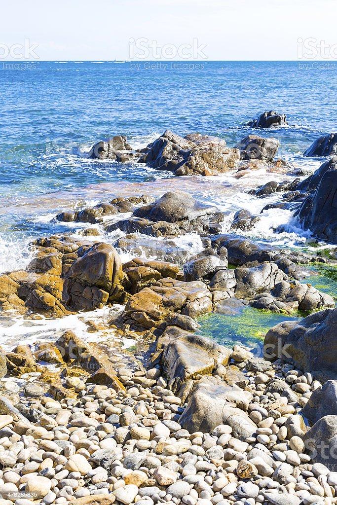 France, Granite Coast royalty-free stock photo