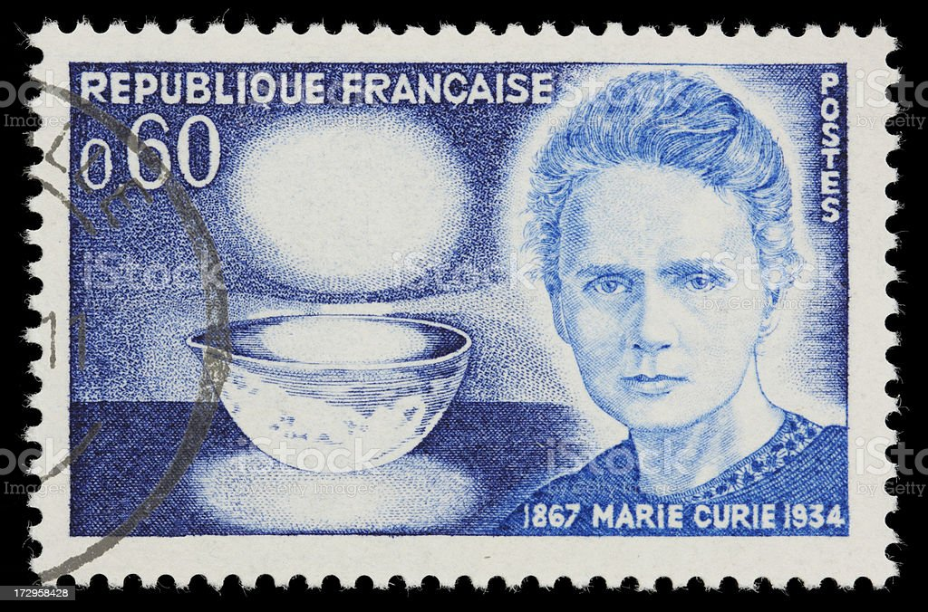 France Marie Curie postage stamp stock photo