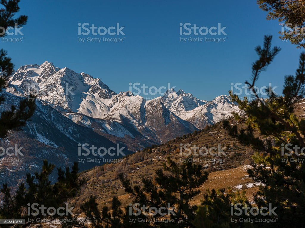 France. Massif des Écrins (Écrins National Park) stock photo