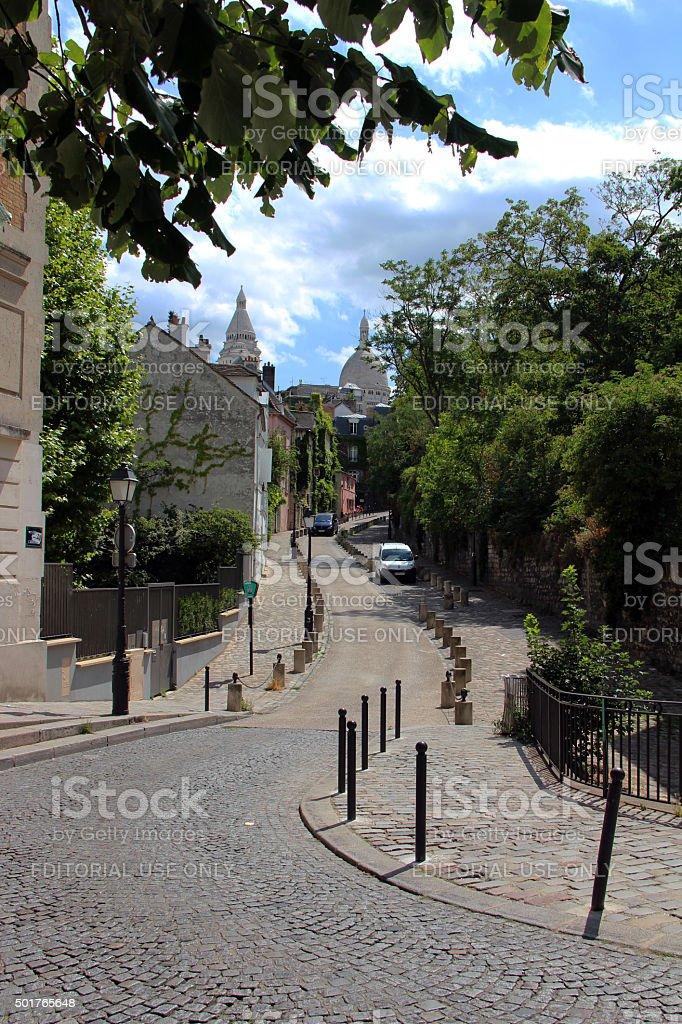 France: Montmartre Street Scene stock photo