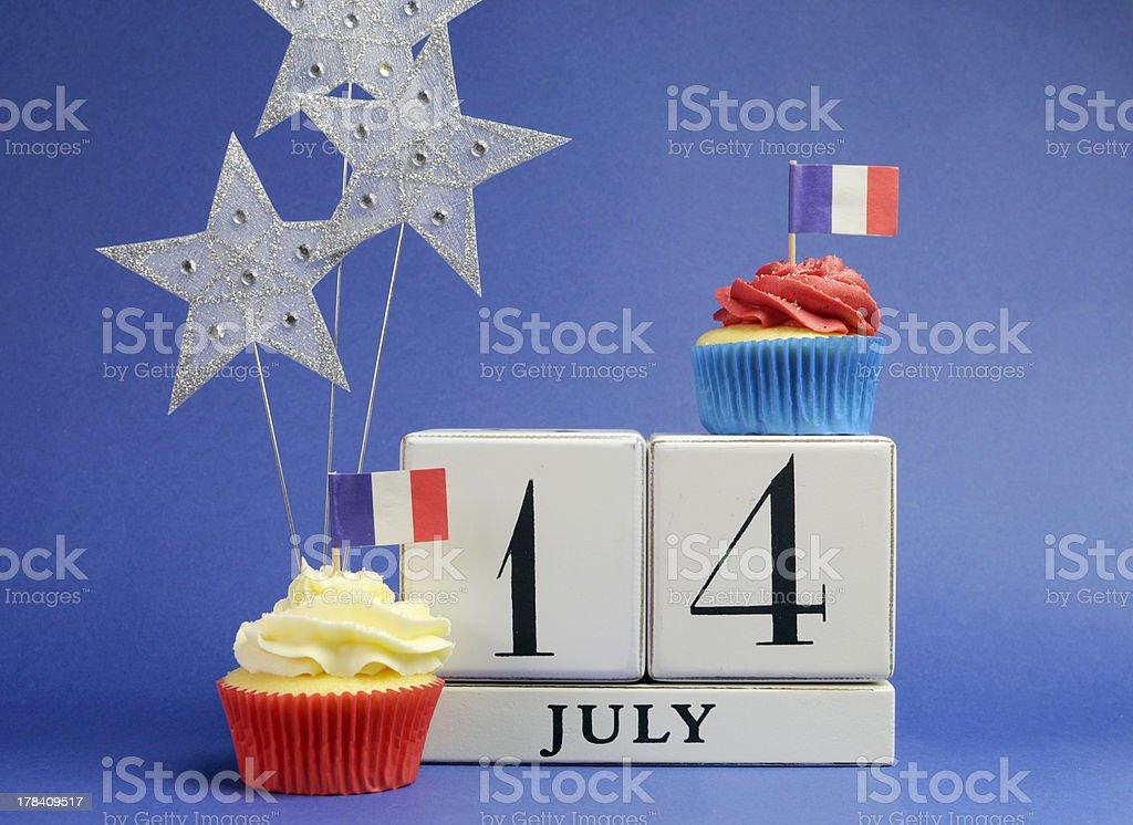 France National holiday calendar, 14 July, Bastille Day stock photo