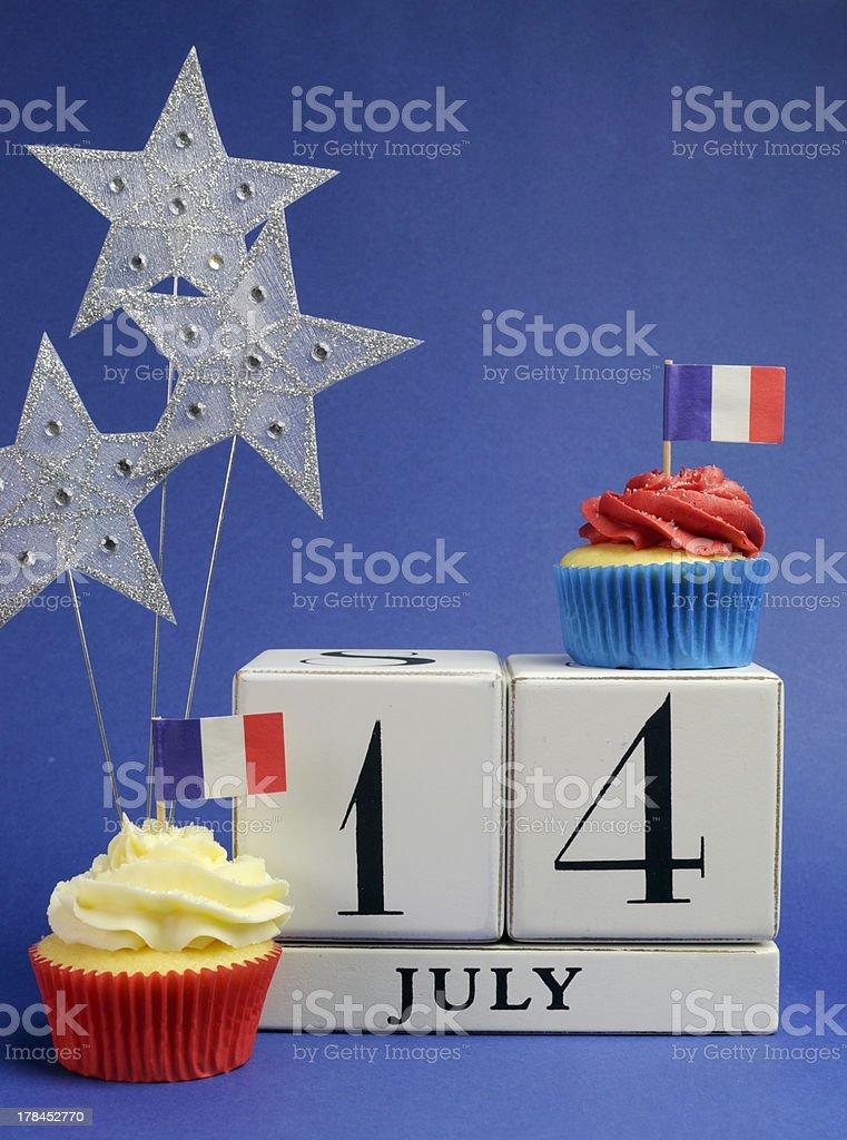 France National holiday calendar, 14 July, Bastille Day, stock photo