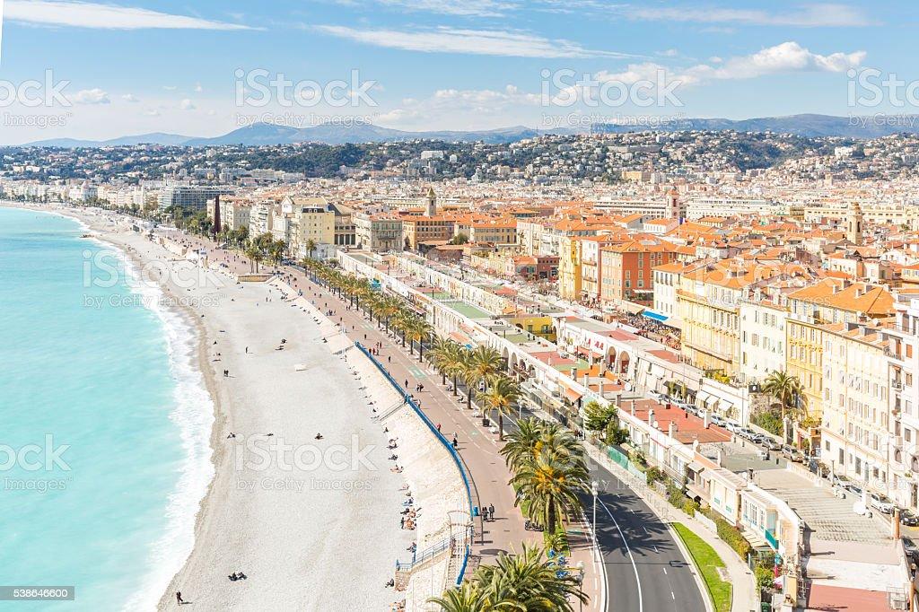 France Nice Mediterranean stock photo