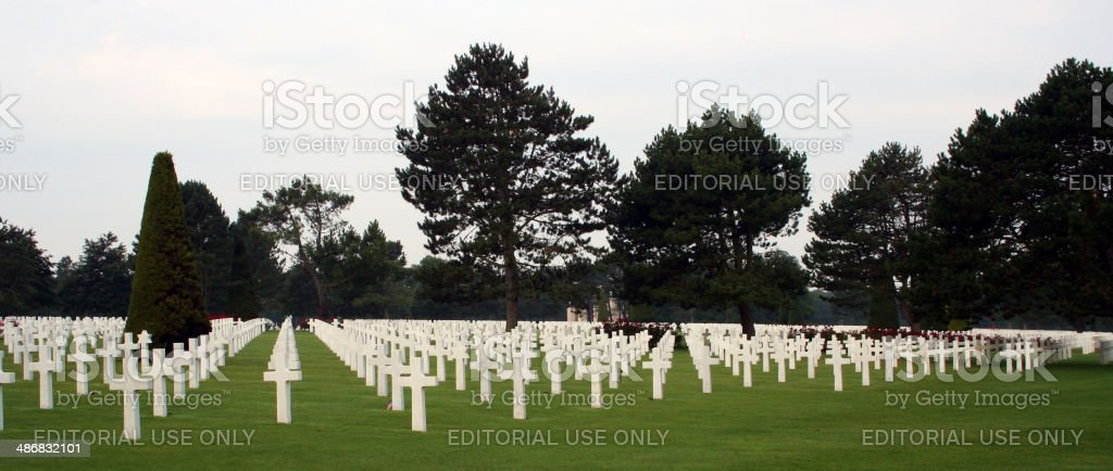 France: Normandy American Cemetery and Memorial in Colleville-sur-Mer stock photo