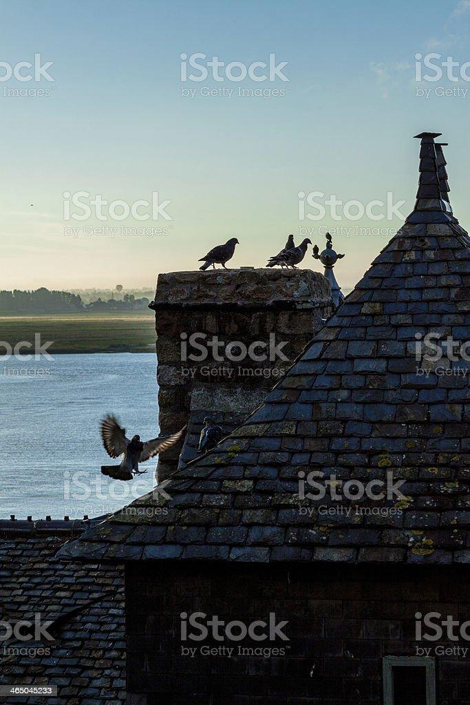 France. Normandy. Mont Saint-Michel (Mont Saint Miché) stock photo