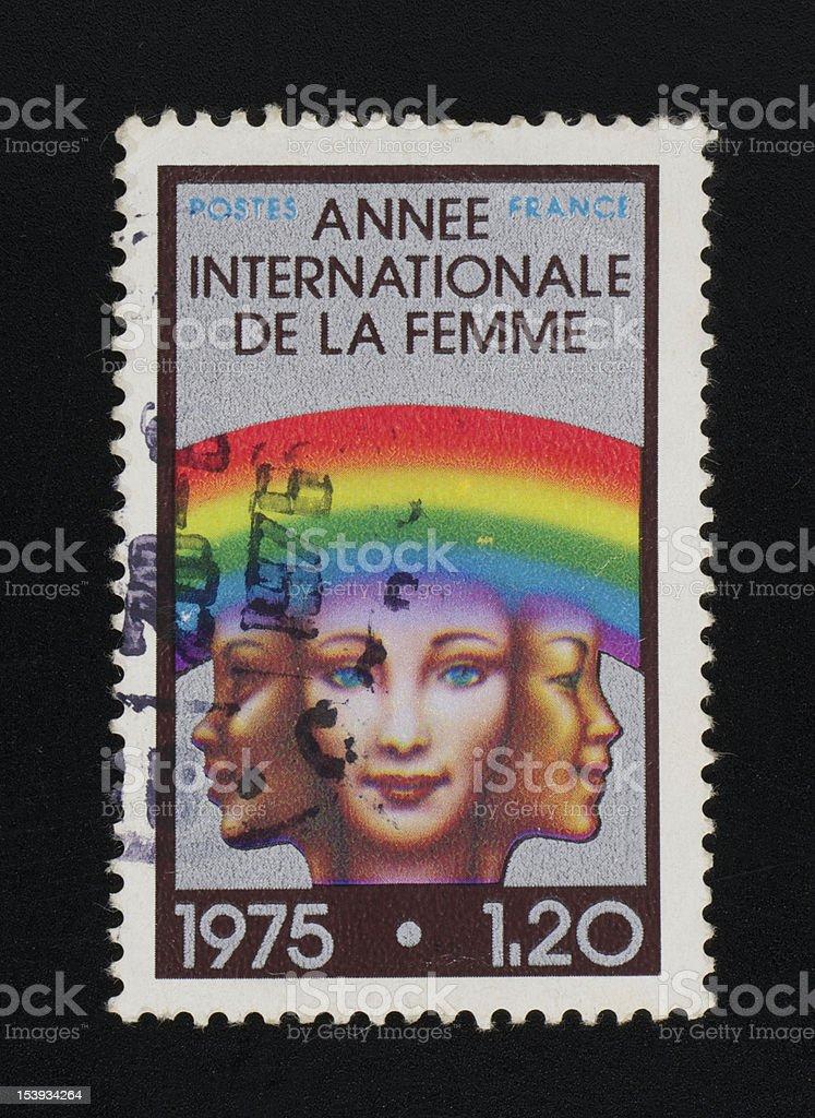 France postage stamp stock photo