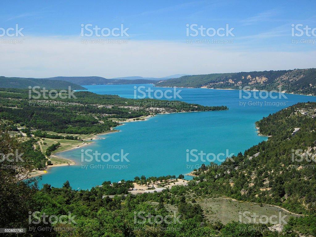 France provence - beauty sainte croix lake stock photo