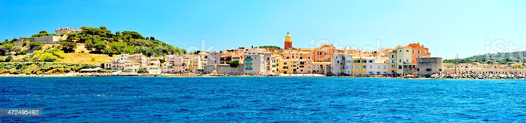 France - Saint Tropez - panoramic view stock photo