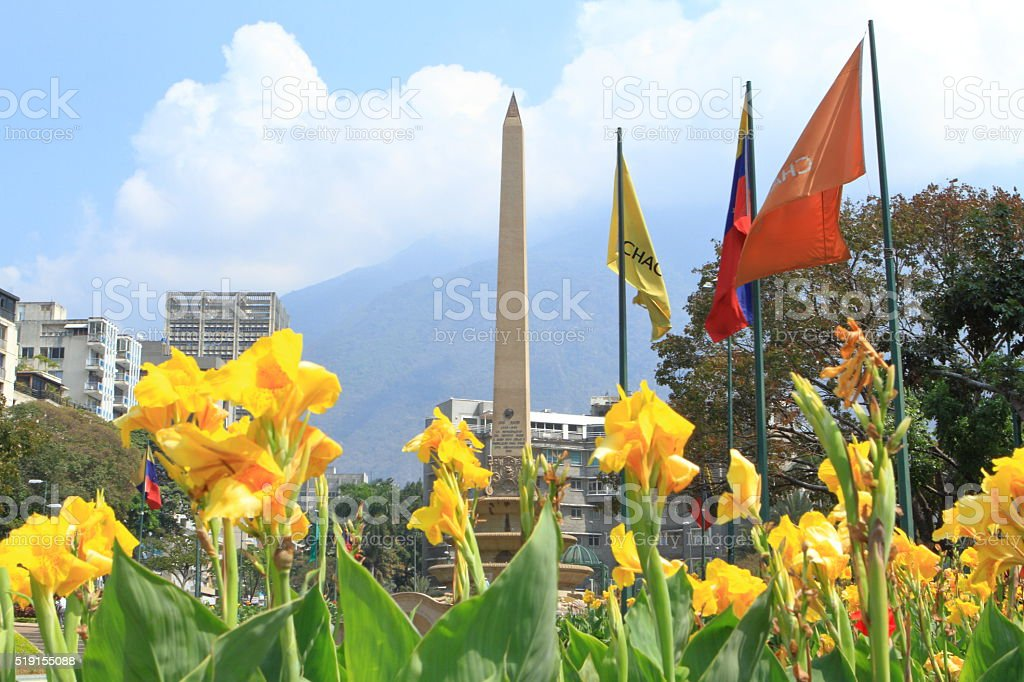France Square in Caracas stock photo