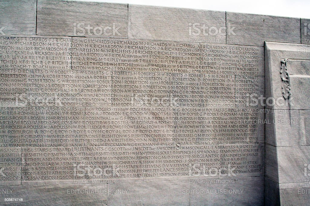 France: The Canadian National Vimy Memorial stock photo