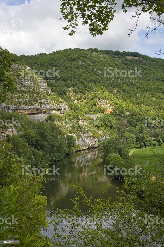France, The Lot Valley near Cajarc stock photo