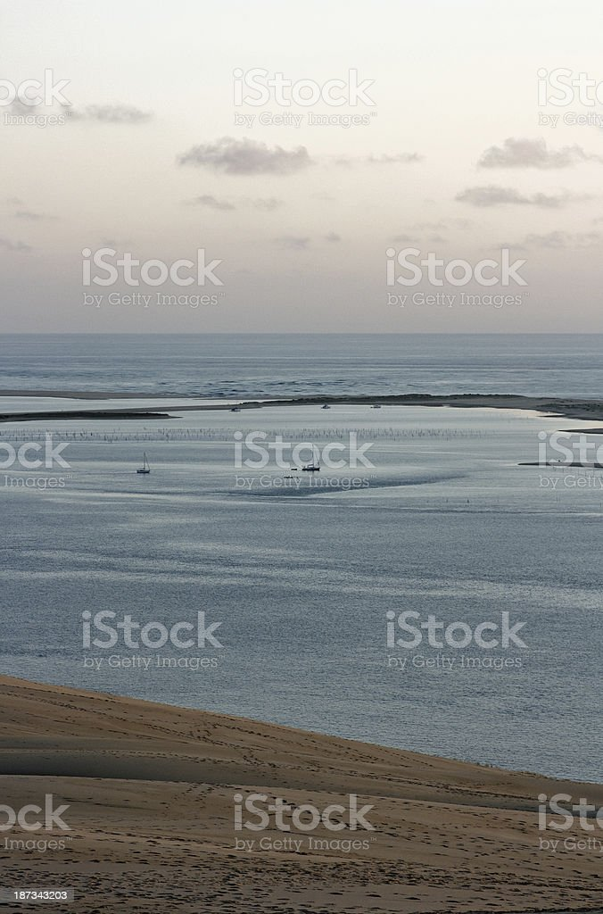 France: View from Europe's highest dune near Arcachon stock photo