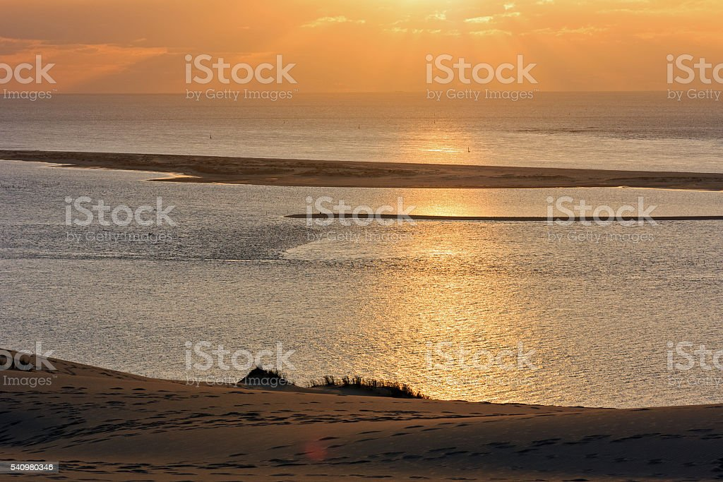 France - View from Europe's highest dune near Arcachon stock photo