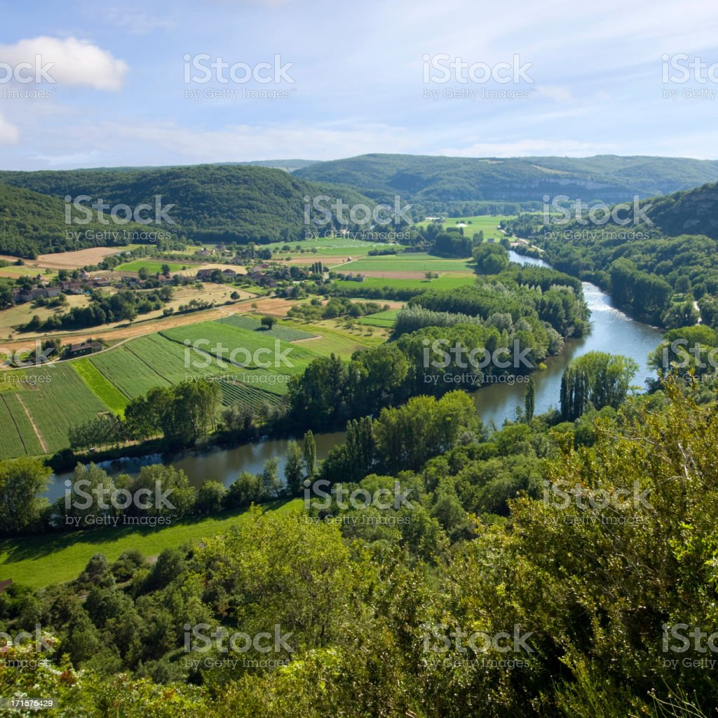 France, view of the Lot Valley near St Martin Labouvel stock photo