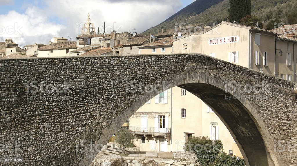 France village - Nyons stock photo