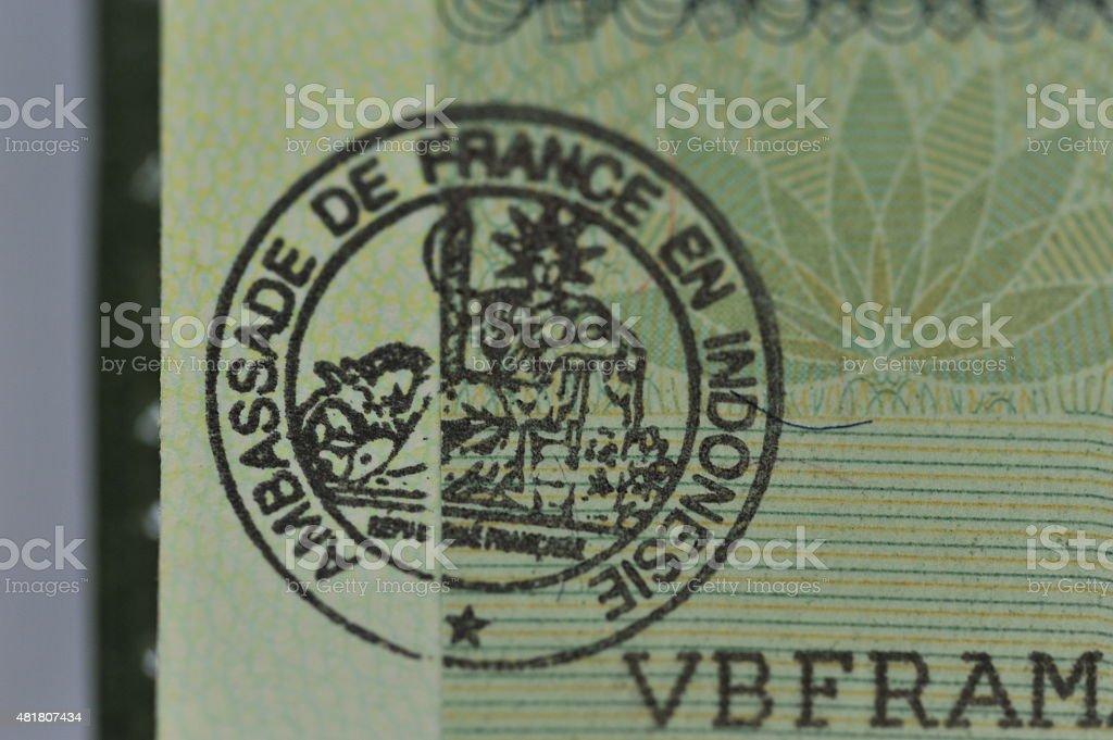 France visa stock photo