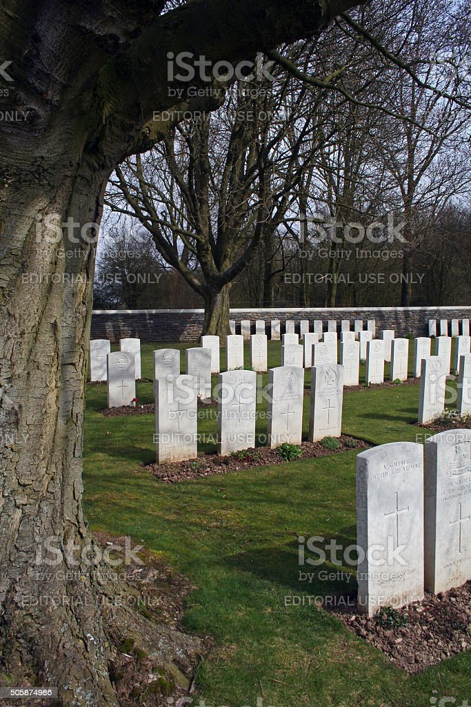 France: War Cemetery at the Canadian National Vimy Memorial stock photo