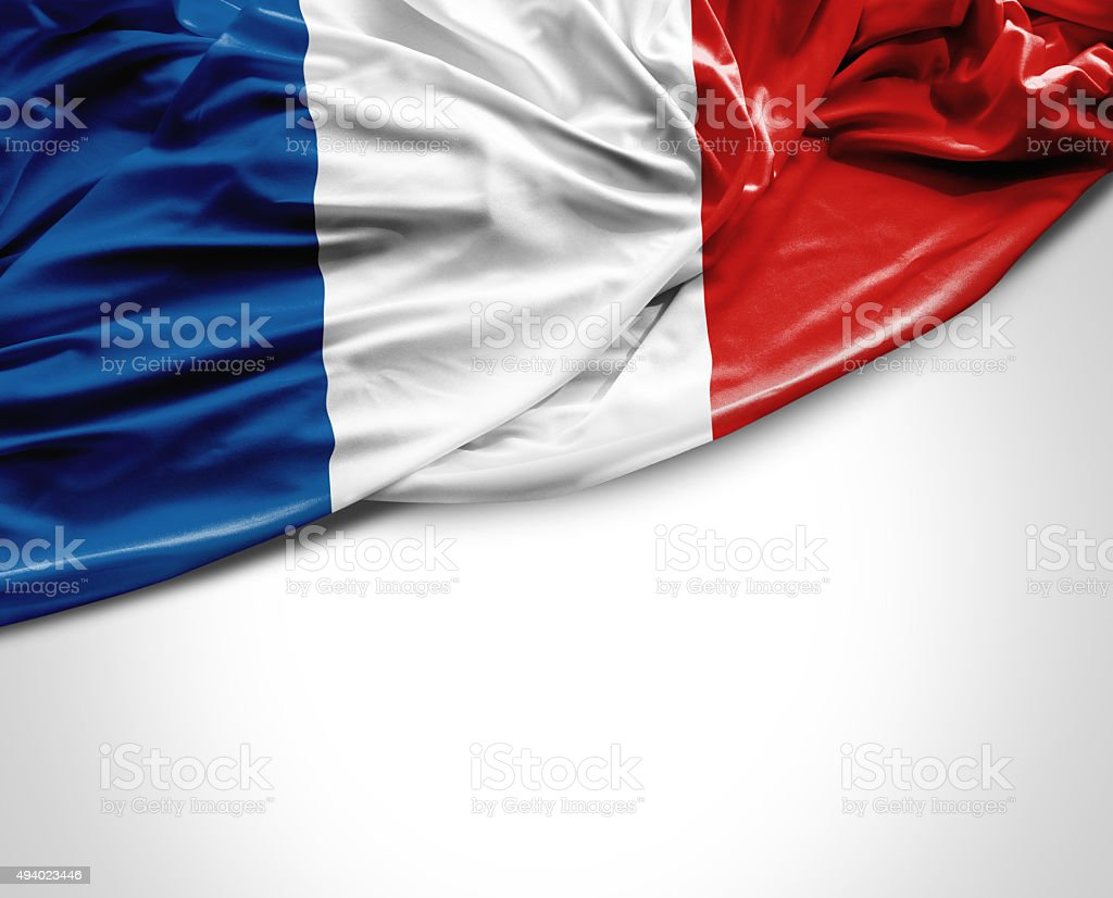 France waving flag on white background stock photo