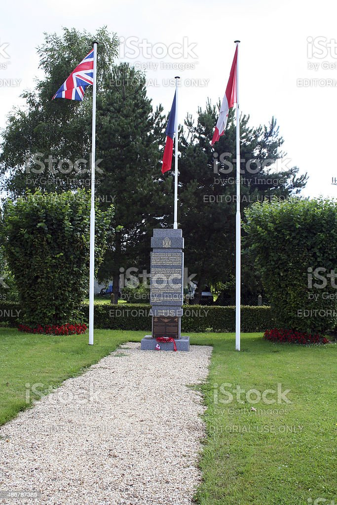 France: WWII Monument at Varaville stock photo