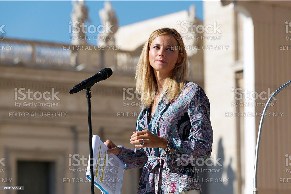 Francesca Fialdini, journalist and television presenter stock photo