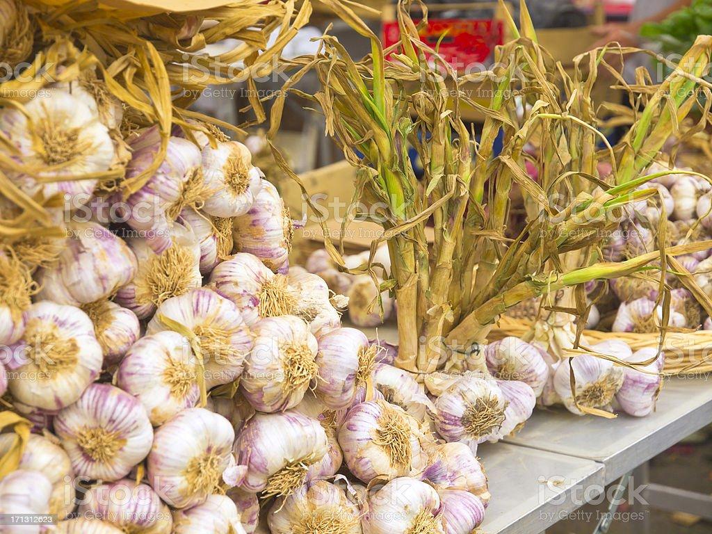 Franche garlic stock photo