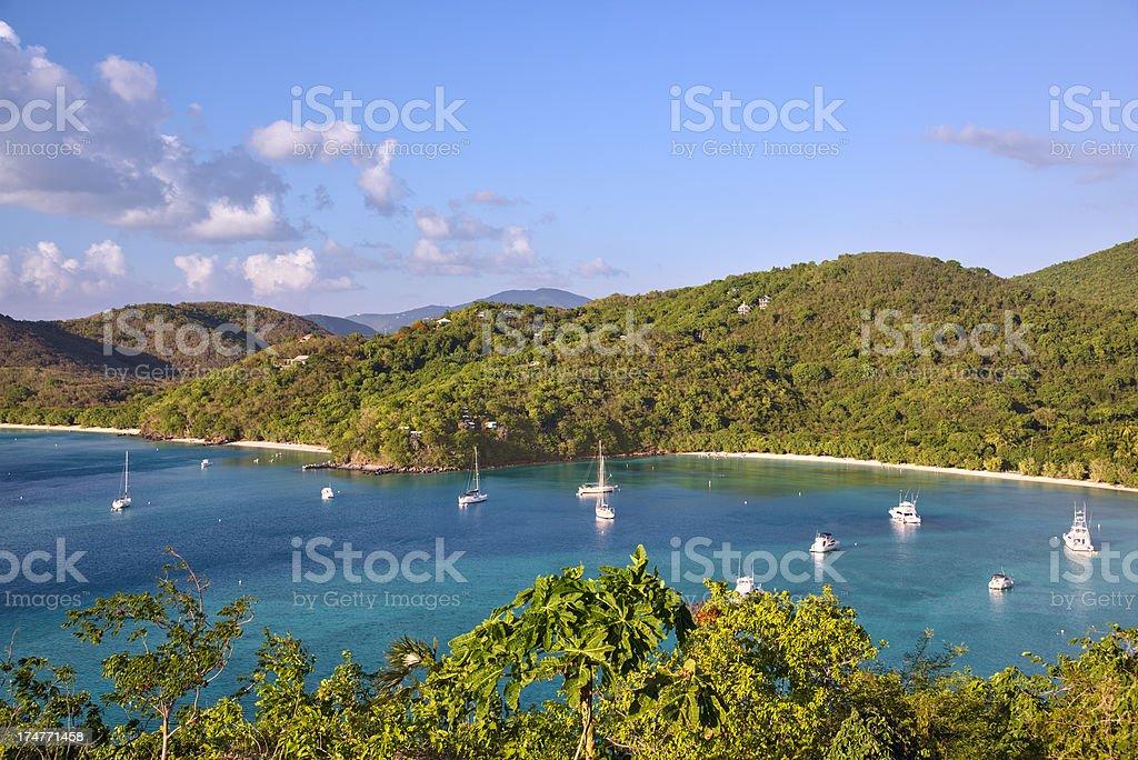 Francis and Maho Bays, St John, USVI stock photo