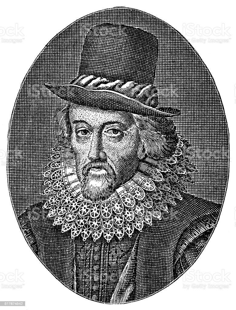 Francis Bacon - English Philosopher stock photo