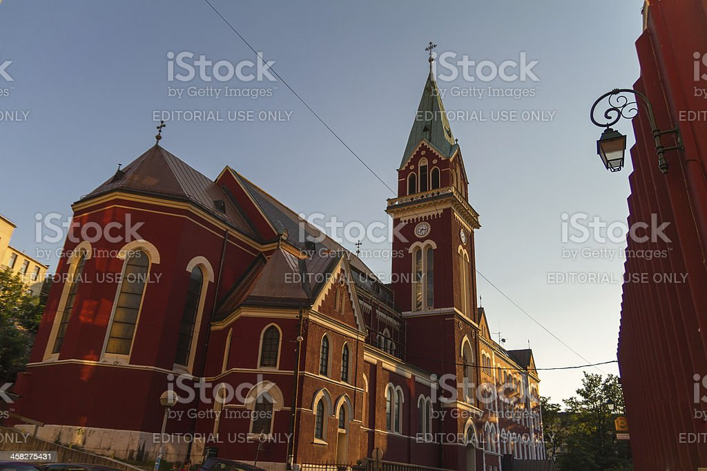 Franciscan church in Sarajevo stock photo