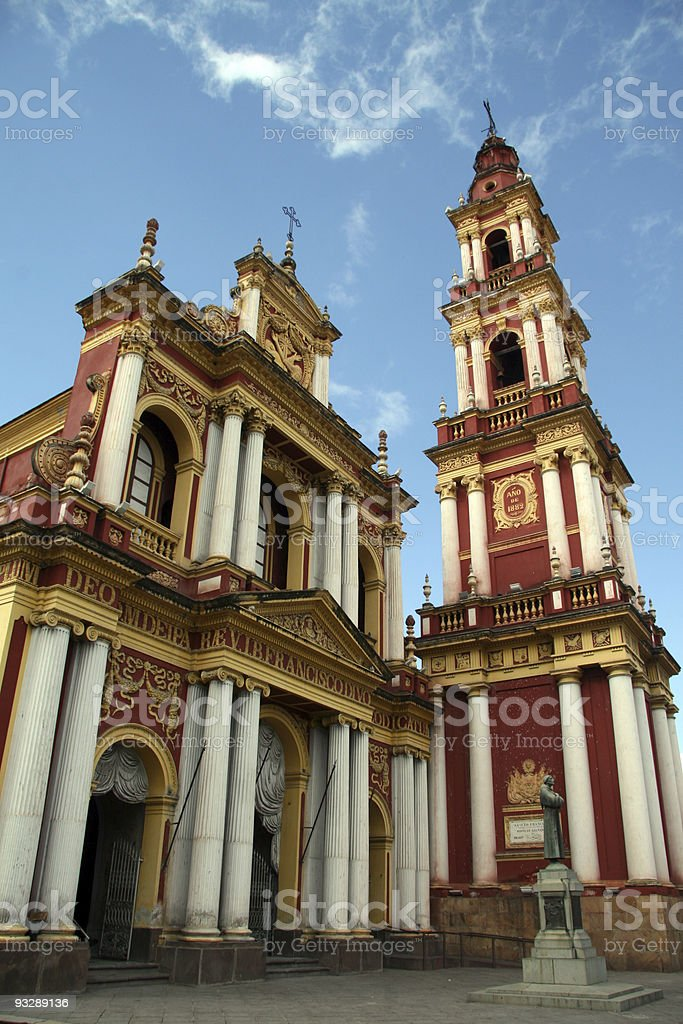 Franciscan church of Salta, Argentina royalty-free stock photo