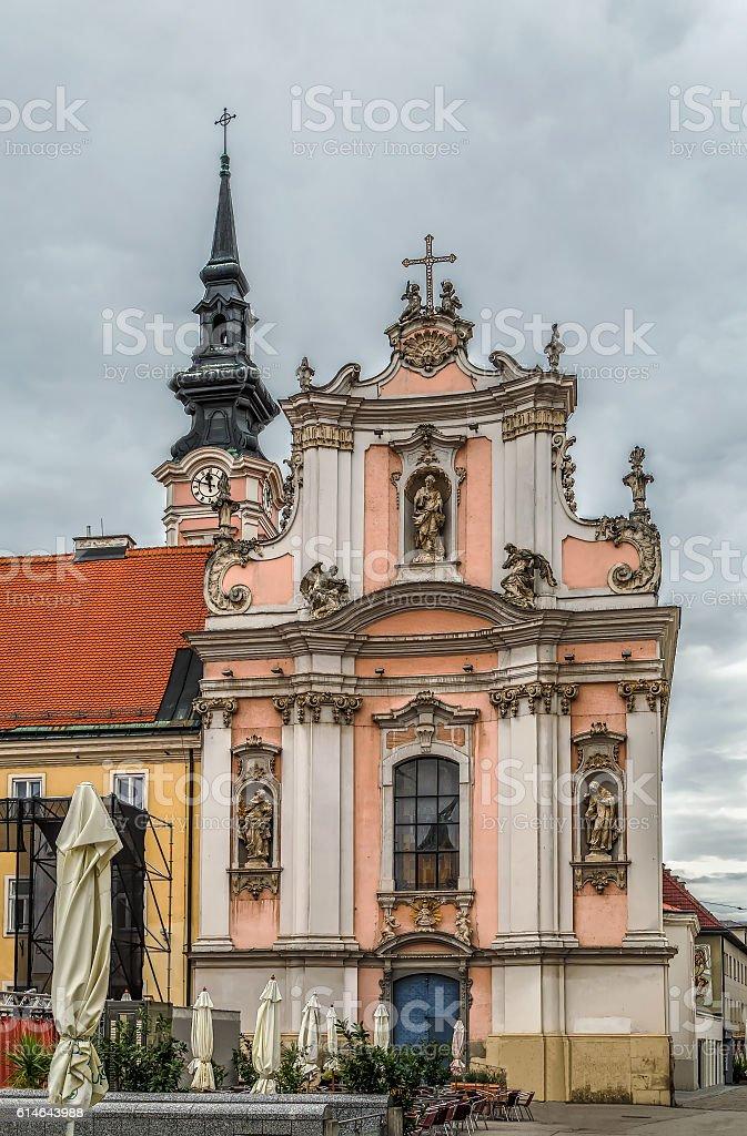 Franciscan church, Sankt Polten, Austria stock photo